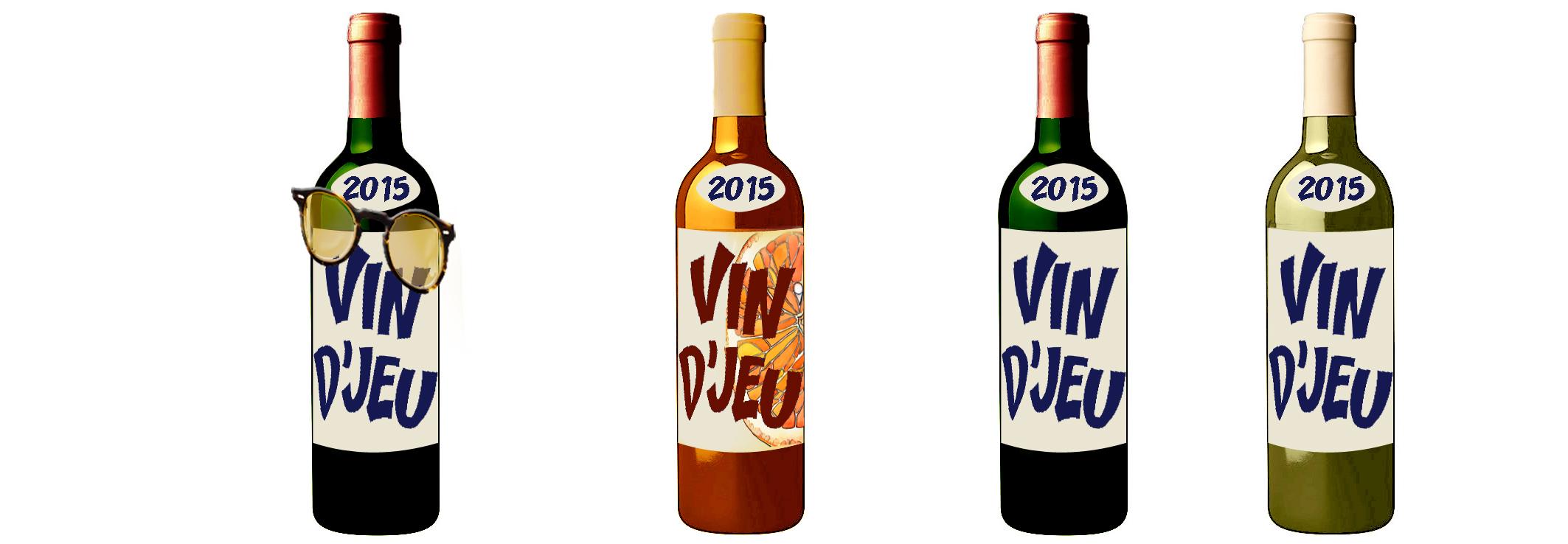 4 bouteilles vin djeu 2015