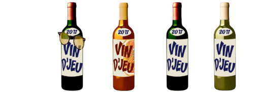 4 bouteilles vin djeu 2017