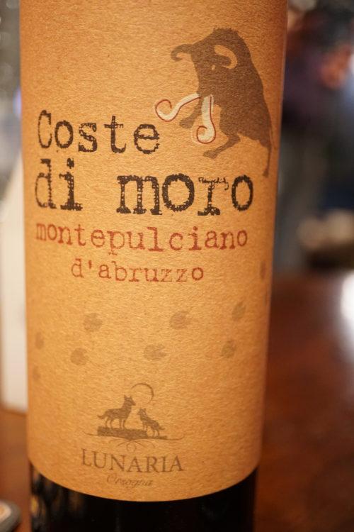 Chez un écolo comme Thierry, on se devait de déguster un Coste di moro. Un vin bio au goût chocolat des plus surprenants mais pas pour le moins délicieux