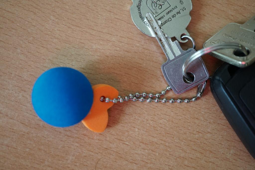 Et maintenant, l'Orange Bleue trône sur mon porte-clefs aussi :-)