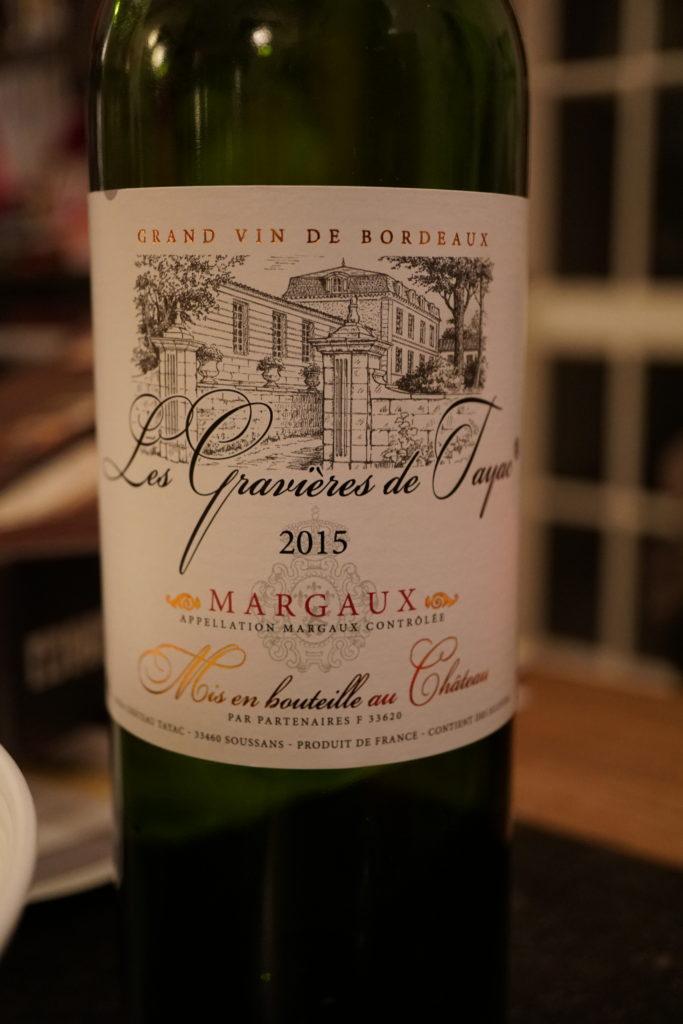 Le Margaux est un de mes vins préférés bien que celui-ci soit d'une qualité légèrement en dessous