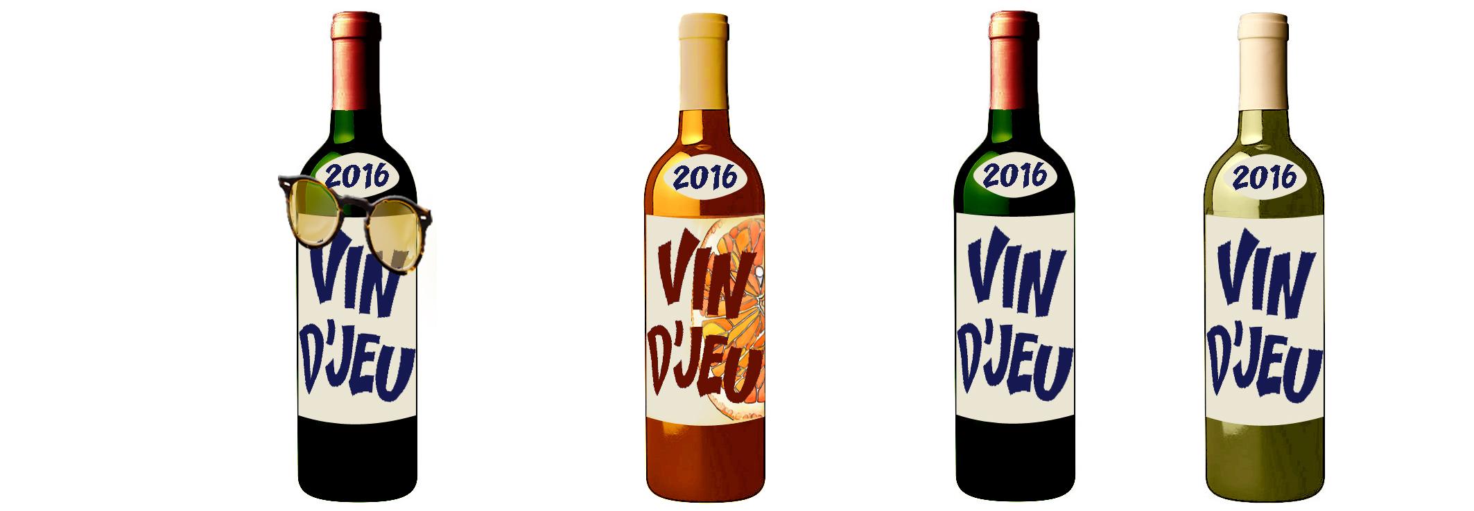 4 bouteilles vin djeu 2016