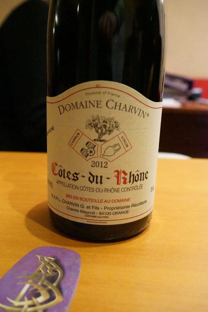 Pas trop fan des Côtes du Rhône et ça tombait bien puisque Dan l'a sorti le mois de la Tournée Minérale :-)