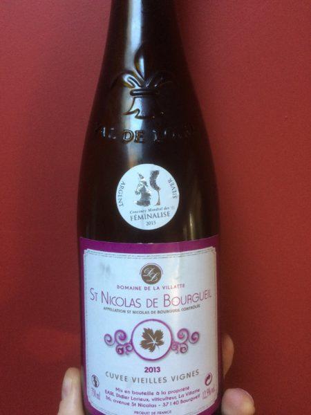 Pas assez de femmes jouent, alors un Saint Nicolas de Bourgueil, vin de femmes dis-t'on !