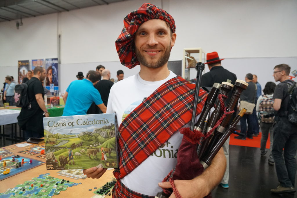 Clans of Caledonia, un des buzz du salon, et son auteur/éditeur.