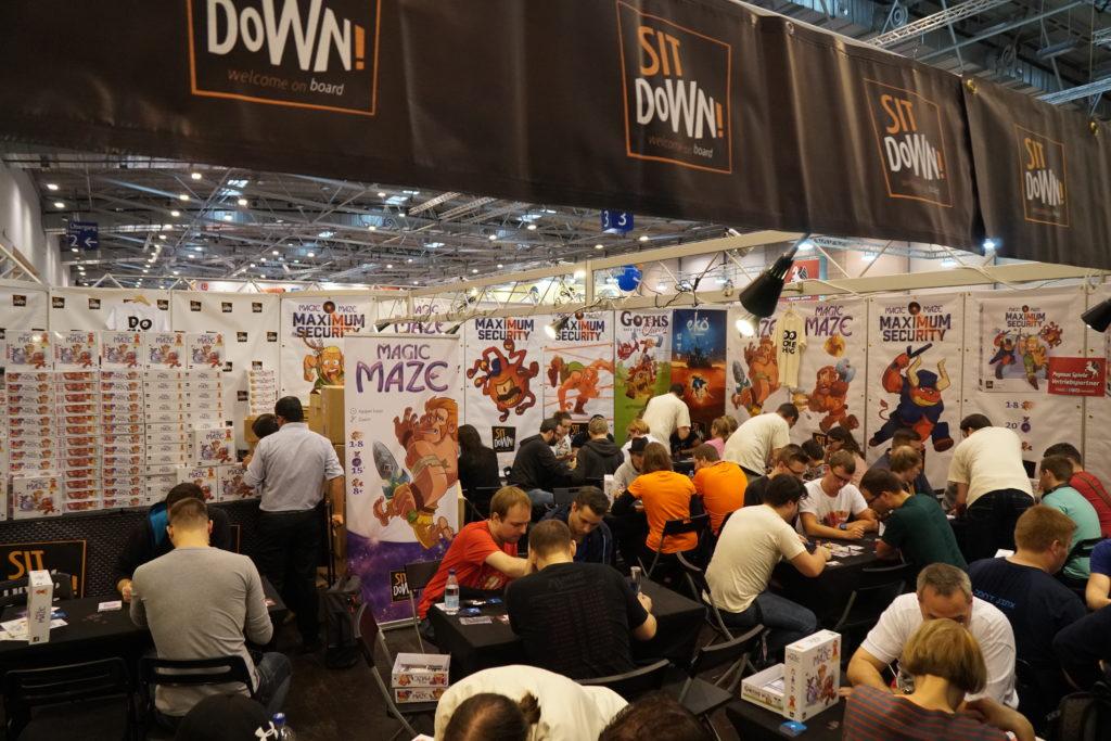 Sit Down est aussi envahit par tous les fans de l'excellent Magic Maze qui pouvaient y découvrir l'extension dont on vous parle bientôt.