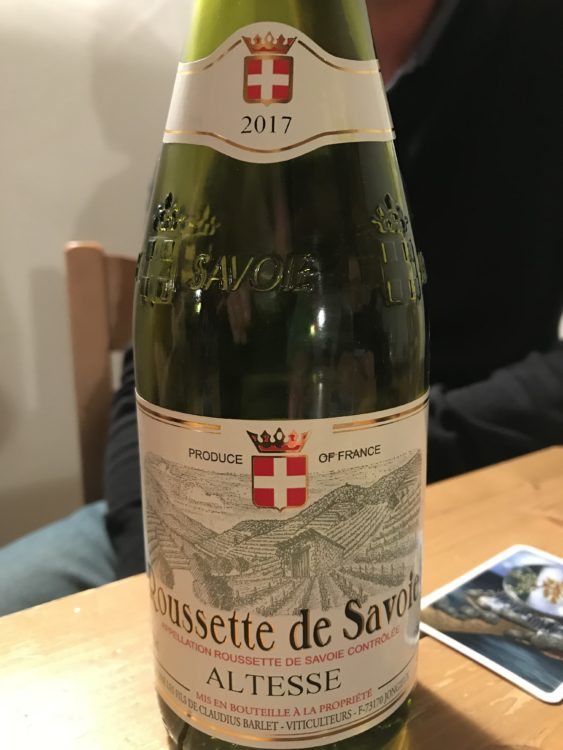 Quand on joue à La Rosière, on boit des vins du coin, ma foi très savoureux